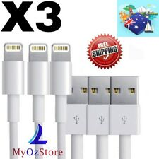 3x High Quality Lightning Charger Data Cable Apple iPhone 7 7 Plus 6 5S iPad