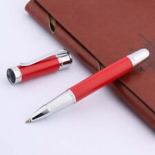 Writing new METAL Silvery Lacquered red Silver Trim Rollerball Pen