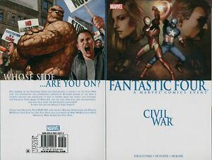 Fantastic Four Civil War Marvel Comics Paperback  Graphic Novel Iron Man J2.825