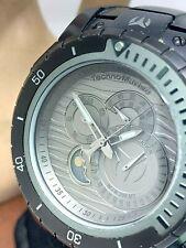 Technomarine Men's Watch TM216009 Manta Sea Diver Black 49mm Moonphase USED
