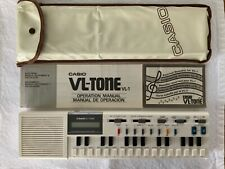 Vintage Casio VL-Tone VL-1 Electronic Musical Instrument and Calculator Wth Case