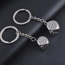 Cute Dice Fashion Car Keychain keyring Keyfob Key Chains Gift Metal Accessories