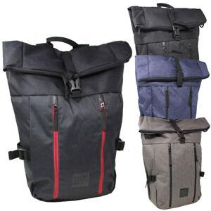 Rucksack Backpack Kurierrucksack Rolltop Uni Sport Freizeit Damen Herren