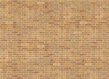 Dolls House Old Red Brick Paper Miniature Print Exterior Wallpaper 1:12 Scale