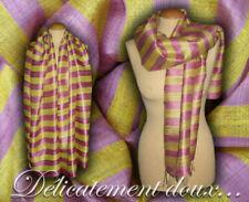 Écharpes et châles jaunes en soie pour femme