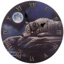 Lisa parker nuit calme du loup photo horloge murale