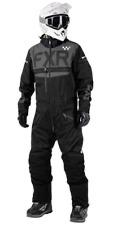 FXR Uninsulated Helium Pro Trilaminate Mono Snow Suit Black XL (202800-1010-16)