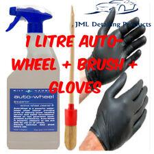 BILT HAMBER AUTO-WHEEL 1 LITRE ALLOY WHEEL CLEANER IRON REMOVER + BRUSH + GLOVES
