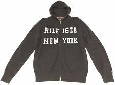 Felpa cardigan Tommy Hilfiger in lana d'agnello, colore blu, taglia M, nuova