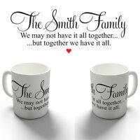 PERSONALISED FAMILY QUOTE COFFEE MUG TEA CUP BIRTHDAY CHRISTMAS GIFT