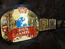 EUROPEAN World Wrestling Championship belt Replica Belt Adult Size High Quality