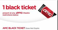 1 AMC Movie Ticket - eDelivery - NO EXPIRATION DATE