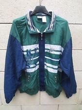 VINTAGE Veste NIKE USA Just Do It tracktop jacket années 90 nylon marine vert S