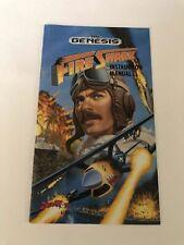 Fire Shark Sega Genesis Manual Only Original Authentic VG Condition