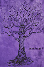 Indian Dry Tree Hanging Cotton Wall Tapestry Poster Size Purple Decor Throw