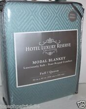 Hotel Luxury Reserve Nip Robin's Egg Blue Full Queen Cotton Viscos Modal Blanket