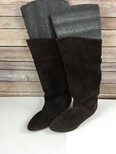 Vintage Cougar Boots 9 Brown Suede Leather Slouchy Womens Canada Round Toe