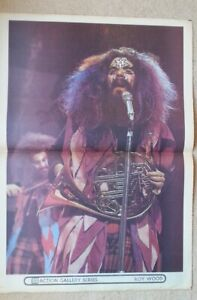 ROY WOOD / CARLY SIMON 2-sided Giant Original newsprint POSTER Size:16x24 inches