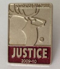 Justice 2010 Foundation Fellowship Deer Elk Pin Badge Rare Vintage (J5)