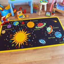 Superb Kids / Childs Rug Solar System Educational Play Mat 100cm x 200cm