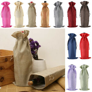 1PC Wine Bottle Gift Bags with Drawstring for Weddings, Party Table Portable HOT