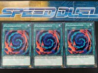 x3 Yugioh Polymerization 1st Edition Playset NM Speed Dueling SS02