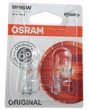 W16w OSRAM original spare part 12v 16w 2 piezas blister 921-02b