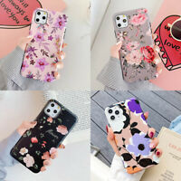 For iPhone 11 Pro Max XS XR 6s 7 8 Plus X Retro Flower Soft TPU Matte Case Cover