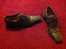 Mens Costume National lace up mocha shoes size 9 EU 43