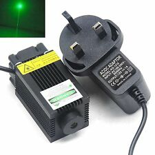 High Power 100mW 532nm Green Laser Diode Module LED Light w/ 12V Power & Fan