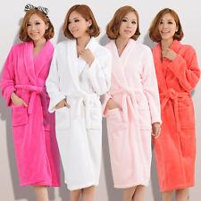 Women Men Winter Cotton blend Bathrobe Night-robe Bath Robe Housecoat Sleepwear