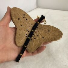 Antique French Handmade Butterfly Needle Case c1880