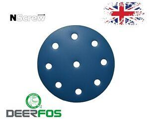 Sanding Discs 5'' 9 holes Deerfos Wet and Dry 125mm orbital pads FESTOOL RO