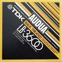 "TDK Audua LB-3600 Back Treated Master Recording Tape 10.5"" Metal Reel NAB Hub"
