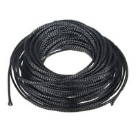 10M 4mm Expandable PET Braided Cable Sleeving Sheathing Wire Audio Sleeve Black