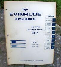 1969 Evinrude 33 HP Ski -Twin Outboard Motor Service Manual