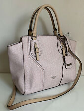 NEW! GUESS ALDER COLLECTION BLUSH PINK CONVERTIBLE SATCHEL CROSSBODY BAG PURSE