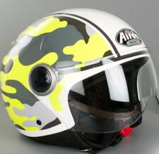 CASCO DEMI JET AIROH COMPACT MILITARY CPM70 YELLOW TG XL