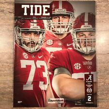 2017 Alabama (41)  vs Colorado St (23) Game Day Program 09/16/2017 NEW