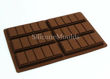6 cell 5 Chunk Chocolate Bar Candy Professional Chocolatier Silicone Mould N044