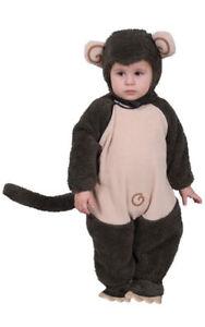 Kids Cute Plush Lil' Monkey Fancy Dress Costume By Dress up America 0-6 months
