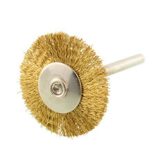 3mm Shank Brass Rotary Wire Wheel Shape Brush for Dremel Die Grinder Tools
