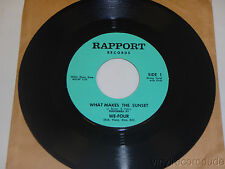 WE-FOUR What Makes The Sunset/ Comes Once In a Lifetime RARE MOD POP 45 Rapport
