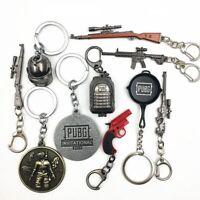 Game PUBG Keychain Gun Helmet LOGO 98K AWM AKM-47 M416 S686 Pan