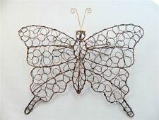 Metal Wall Art Butterfly Butterflies - Bronze & Silver Wire Assorted Sizes