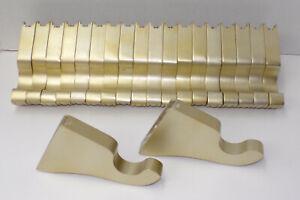 "20 Kirsch Wood Trends 1-3/8"" Brackets SATIN GOLD # 5611-894 NEW w/no metal cleat"