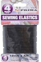 Black Stretch Flat Elastic Waist Band Woven Sewing Dressmaking 12mm x 4 Metres