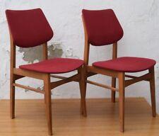 2 rote Stühle um 1955 deutsches Design um 1950-60 mid century