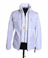 Franco White Men's New Retro Casual Real Waxed Quilted Leather Safari Jacket
