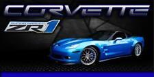 New listing Chevrolet Corvette Zr1 2010 Blue Vinyl Banner Garage Sign 2' x 4'